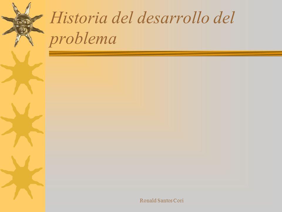 Historia del desarrollo del problema
