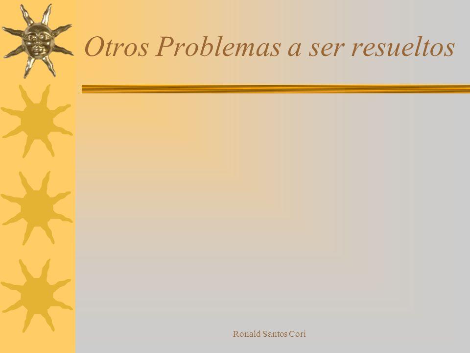 Otros Problemas a ser resueltos