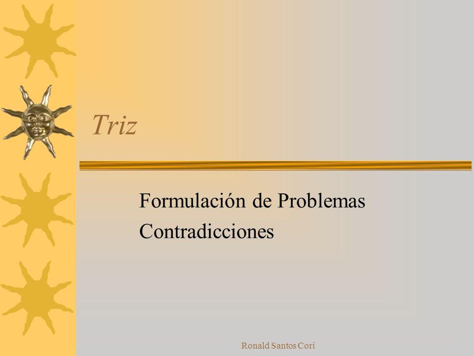 Formulación de Problemas Contradicciones