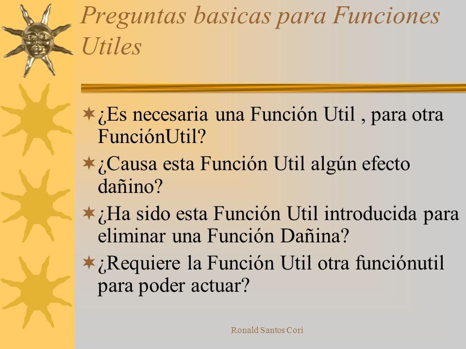 Preguntas basicas para Funciones Utiles