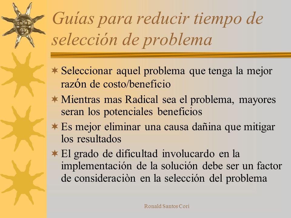 Guías para reducir tiempo de selección de problema