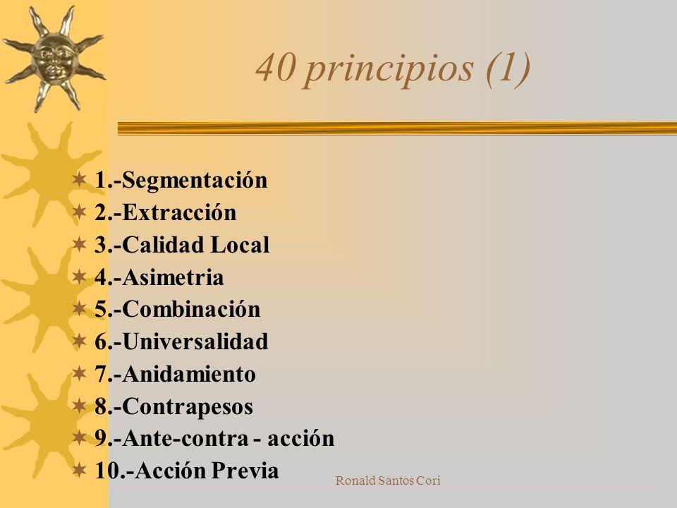 40 principios (1) 1.-Segmentación 2.-Extracción 3.-Calidad Local