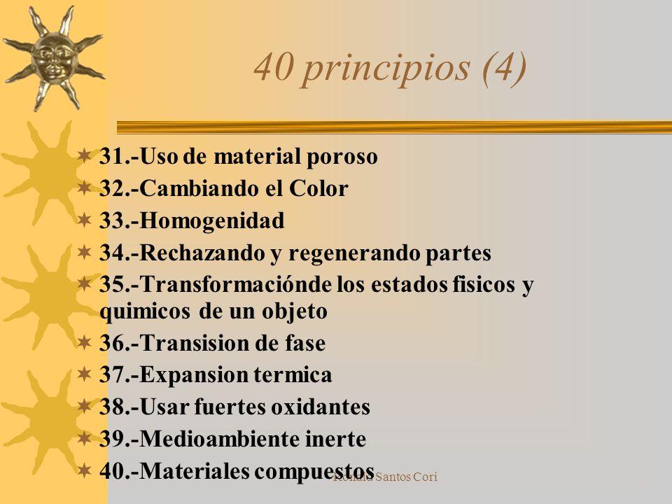 40 principios (4) 31.-Uso de material poroso 32.-Cambiando el Color