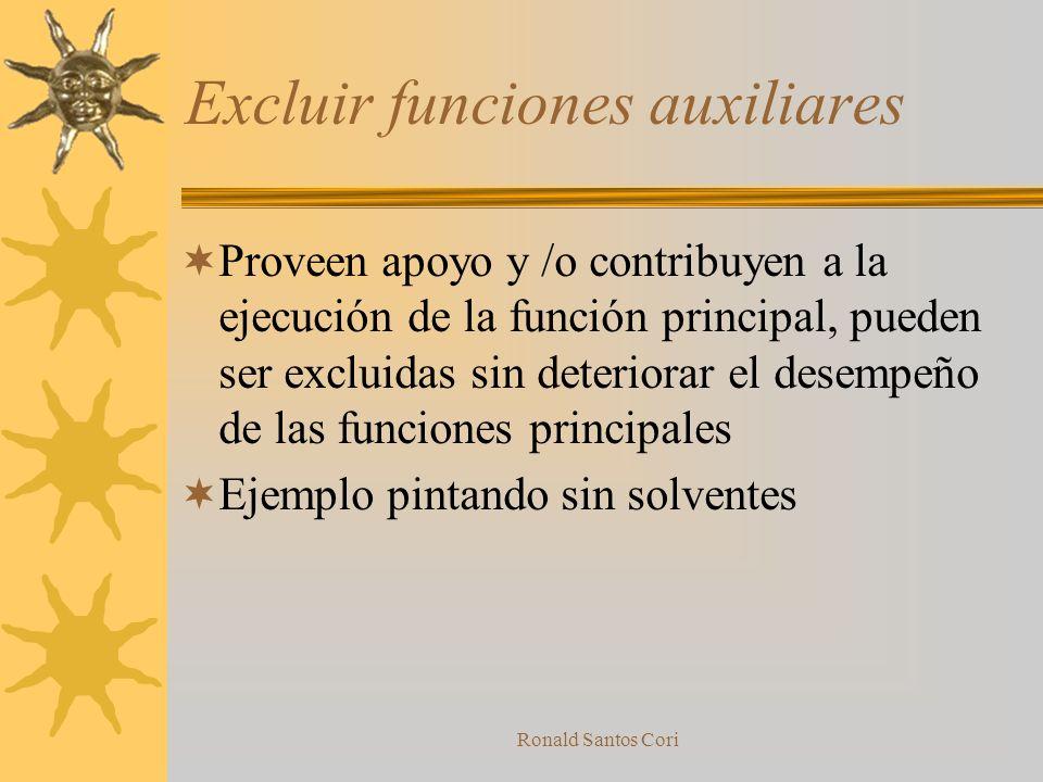 Excluir funciones auxiliares