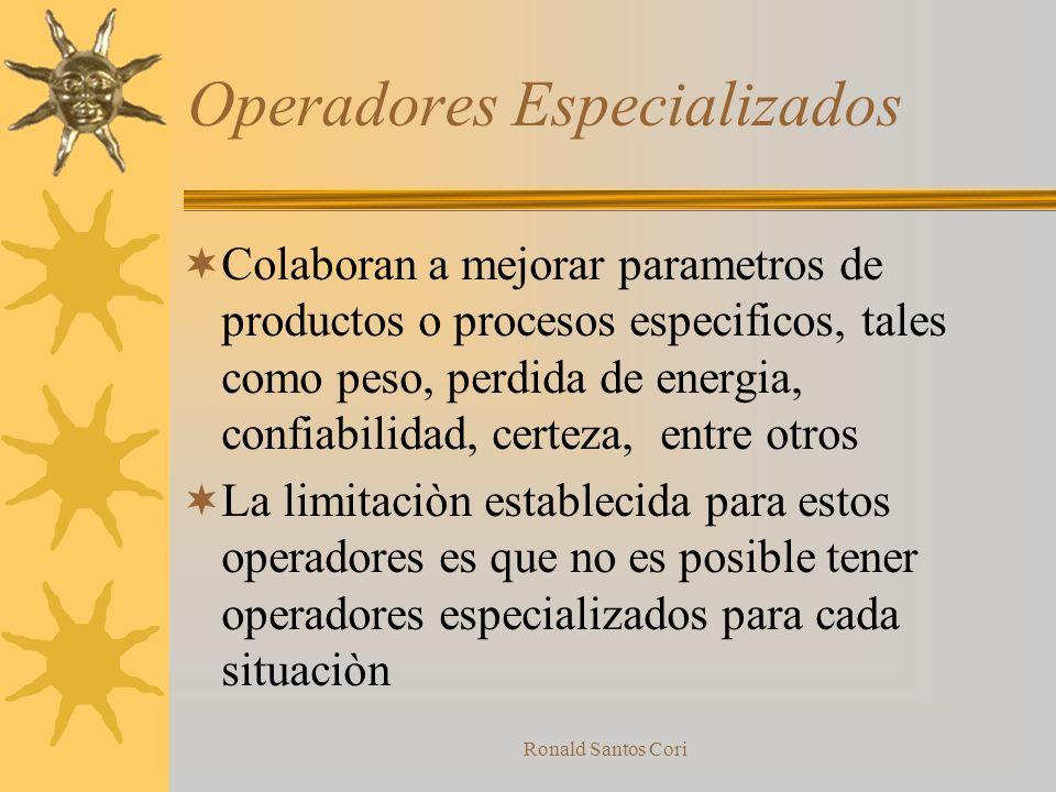 Operadores Especializados