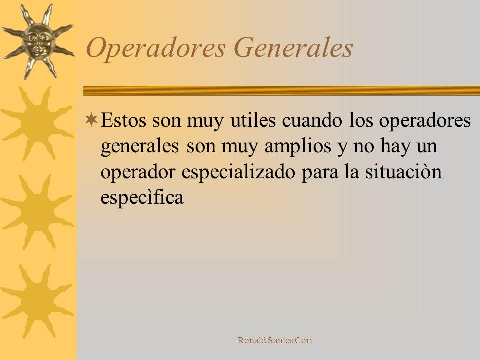 Operadores Generales