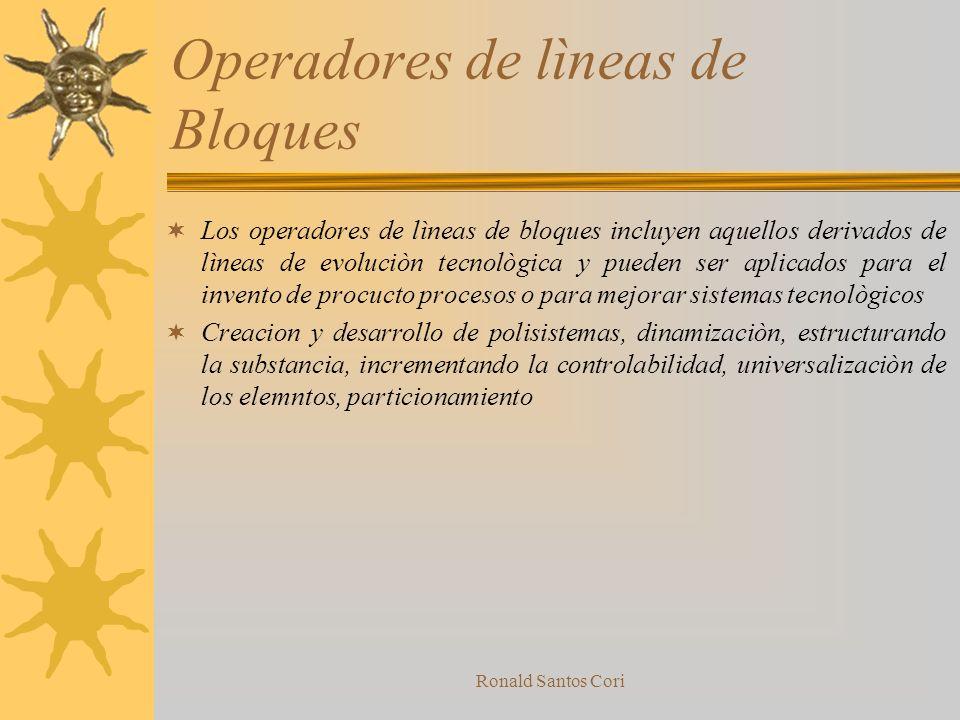 Operadores de lìneas de Bloques