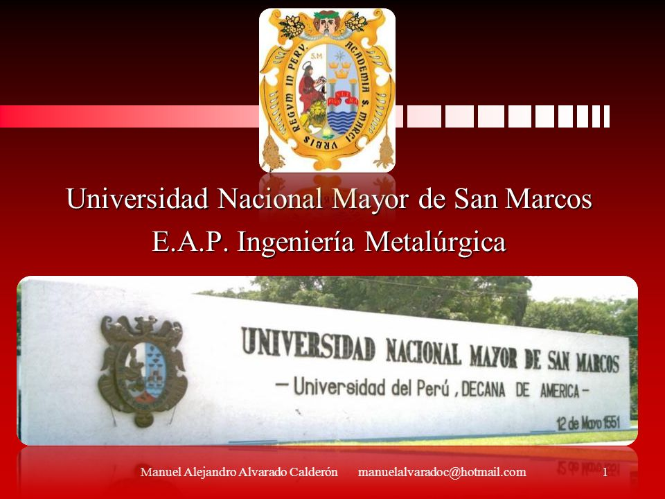 Universidad Nacional Mayor de San Marcos E.A.P. Ingeniería Metalúrgica