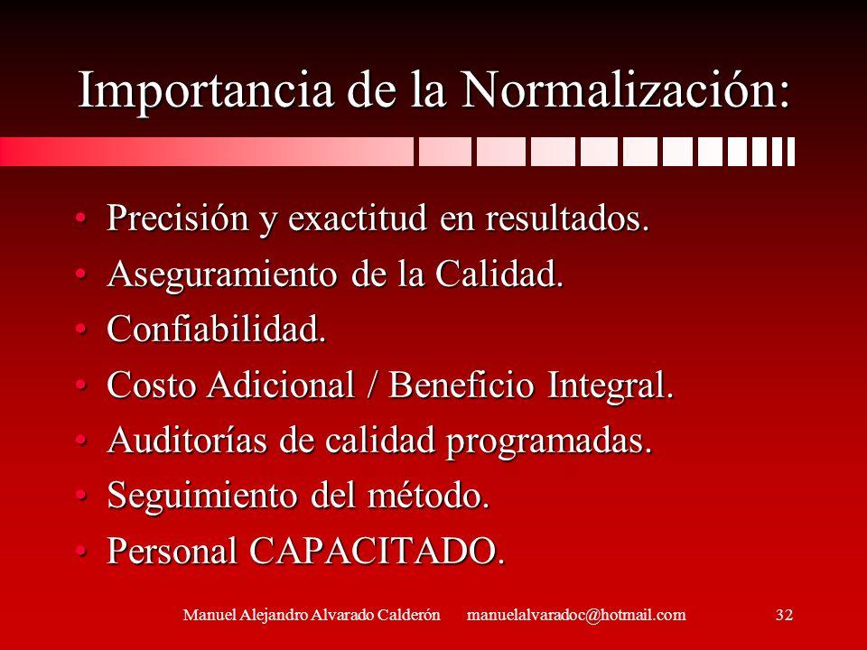 Importancia de la Normalización: