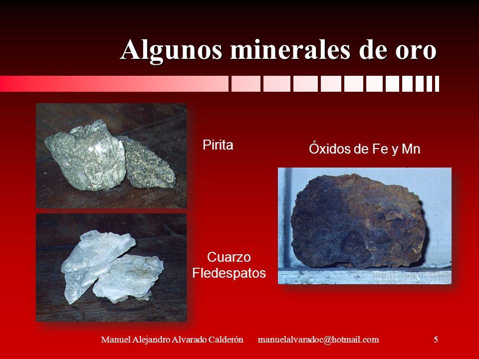 Algunos minerales de oro