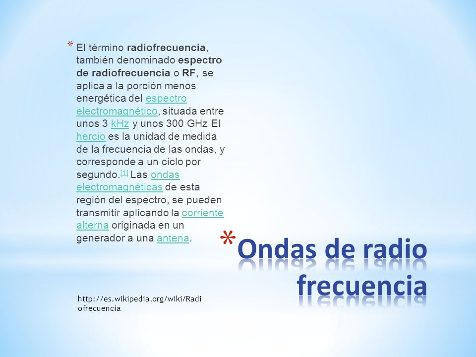Ondas de radio frecuencia