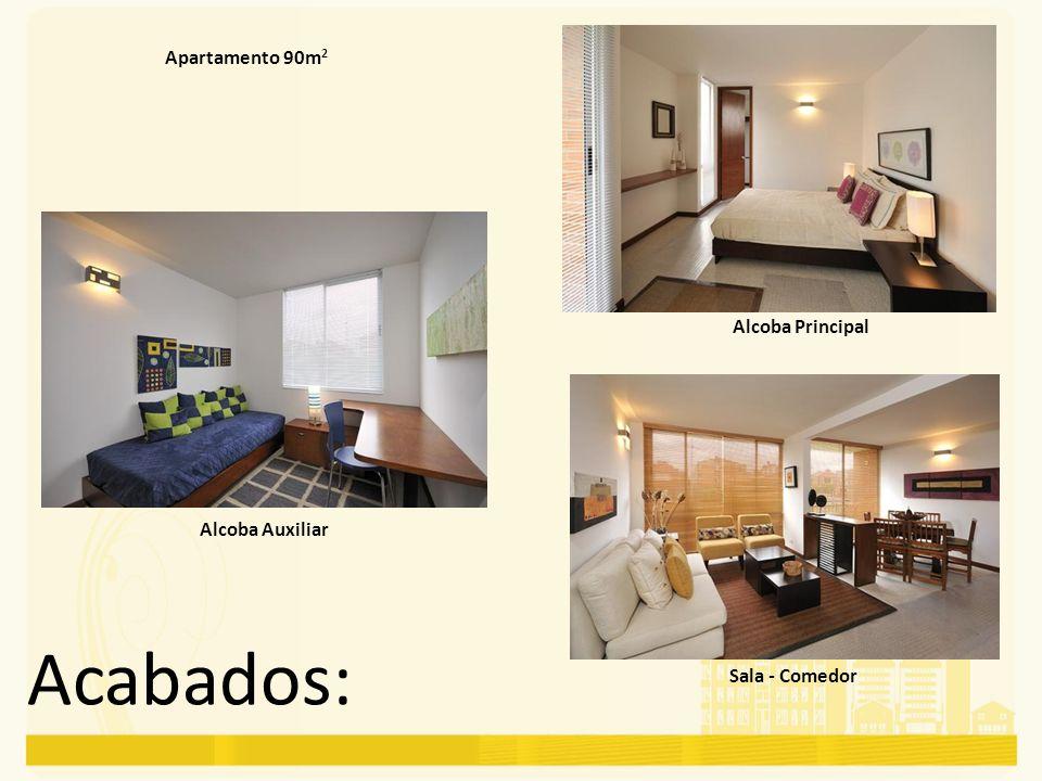 Acabados: Apartamento 90m2 Alcoba Principal Alcoba Auxiliar