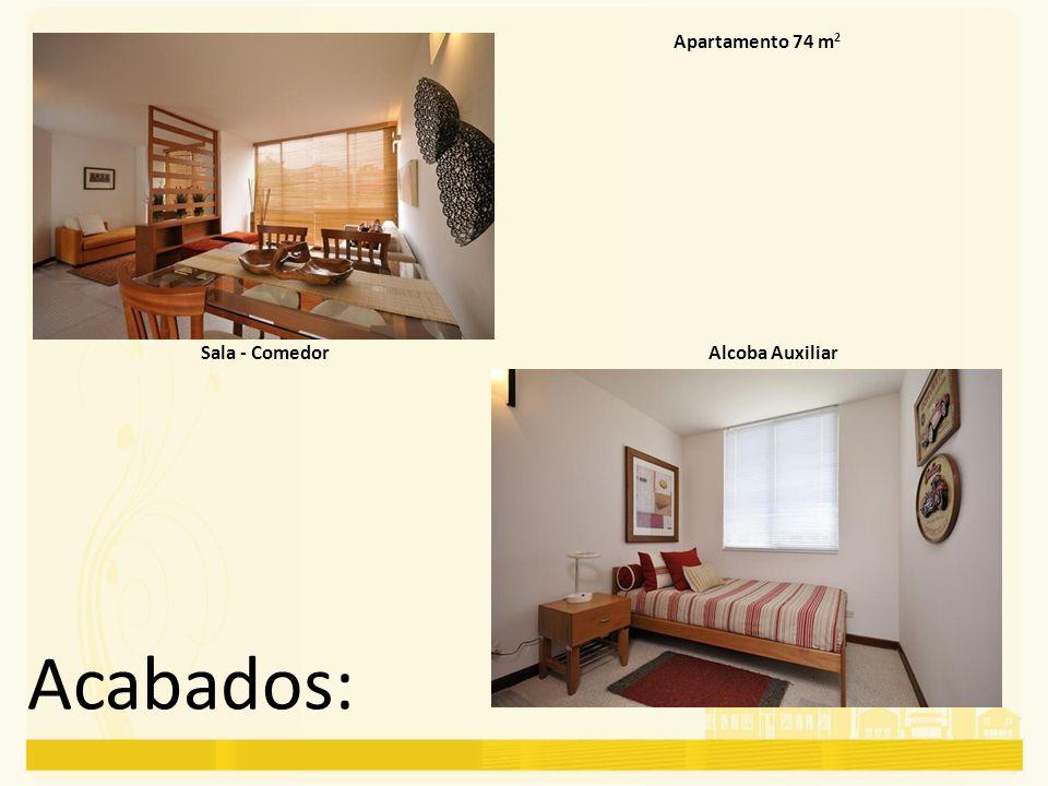 Apartamento 74 m2 Sala - Comedor Alcoba Auxiliar Acabados: