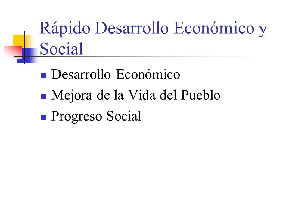 Rápido Desarrollo Económico y Social