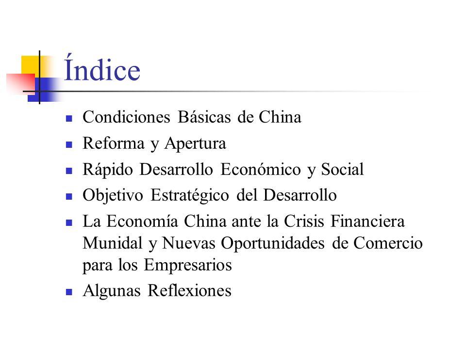 Índice Condiciones Básicas de China Reforma y Apertura