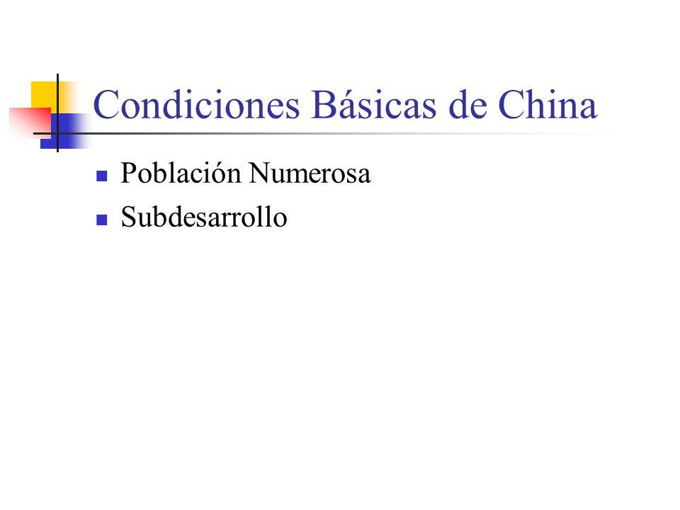 Condiciones Básicas de China