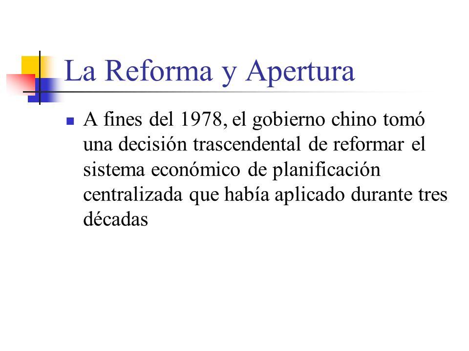 La Reforma y Apertura