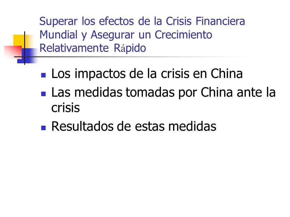 Los impactos de la crisis en China