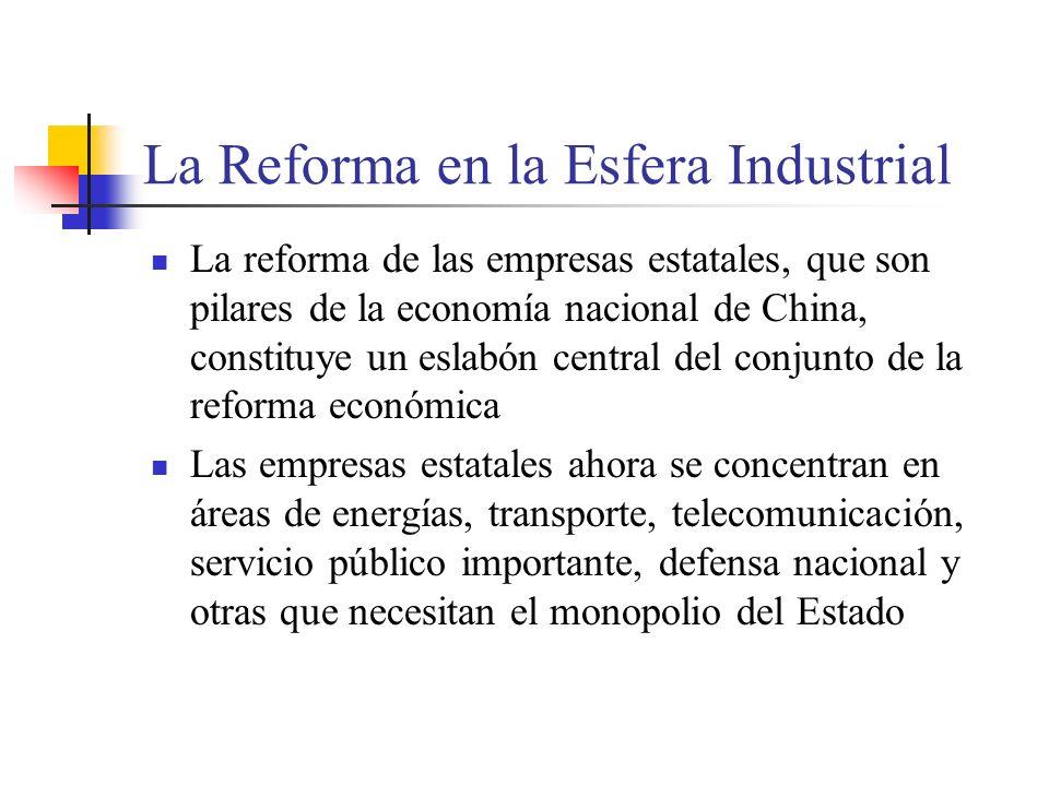 La Reforma en la Esfera Industrial