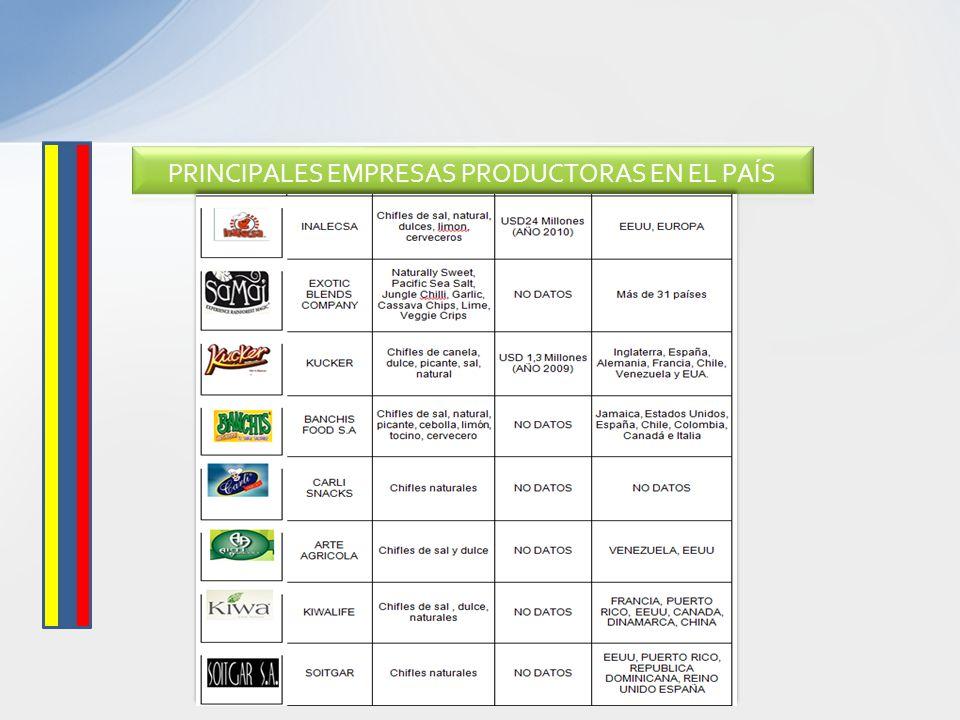 PRINCIPALES EMPRESAS PRODUCTORAS EN EL PAÍS