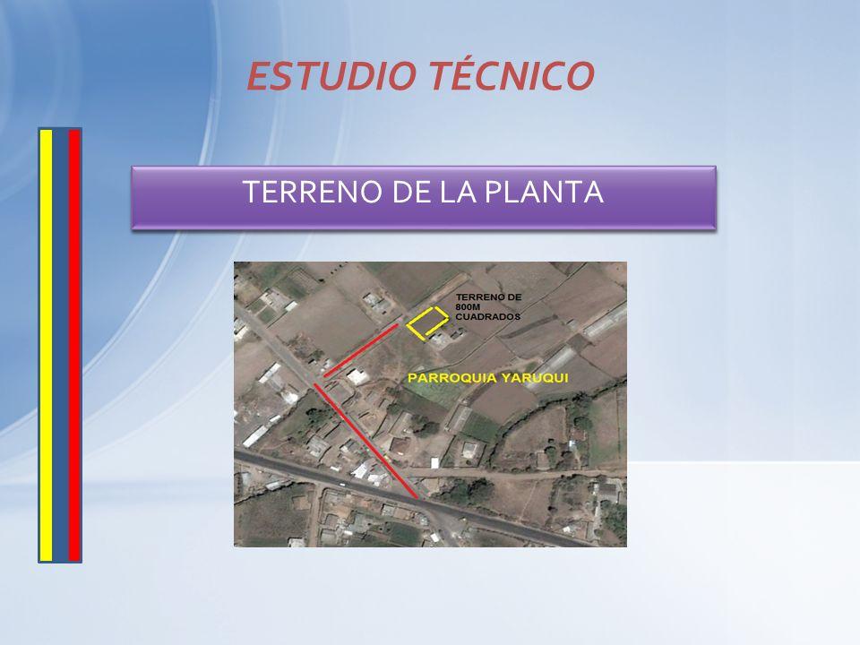 ESTUDIO TÉCNICO TERRENO DE LA PLANTA