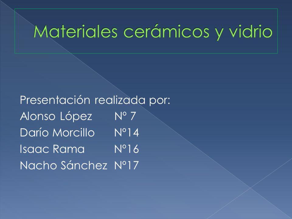 Materiales cerámicos y vidrio