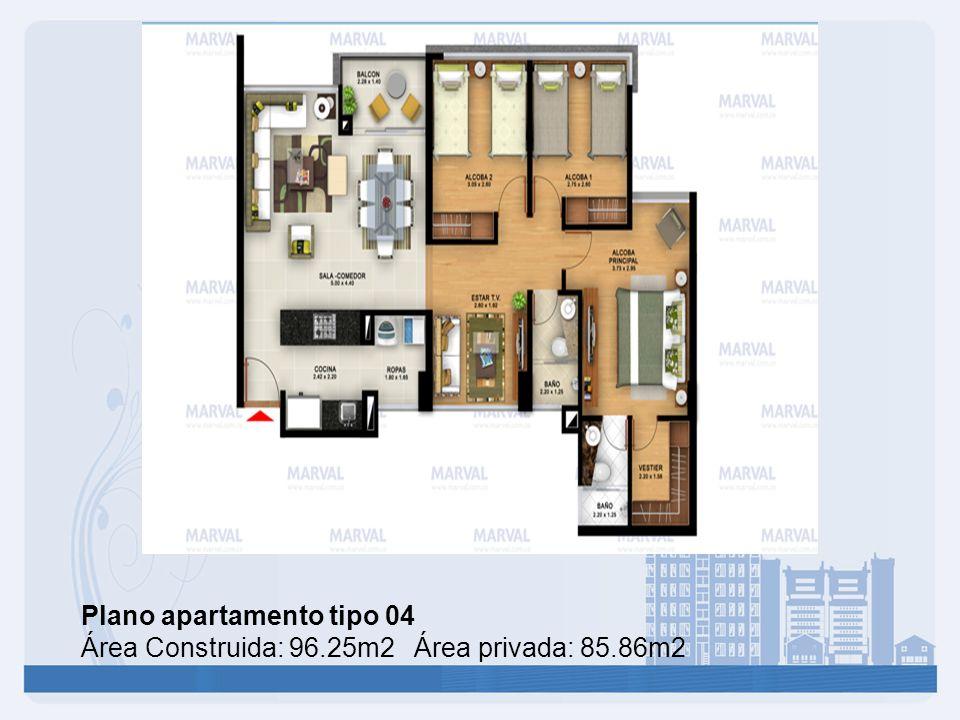 Plano apartamento tipo 04
