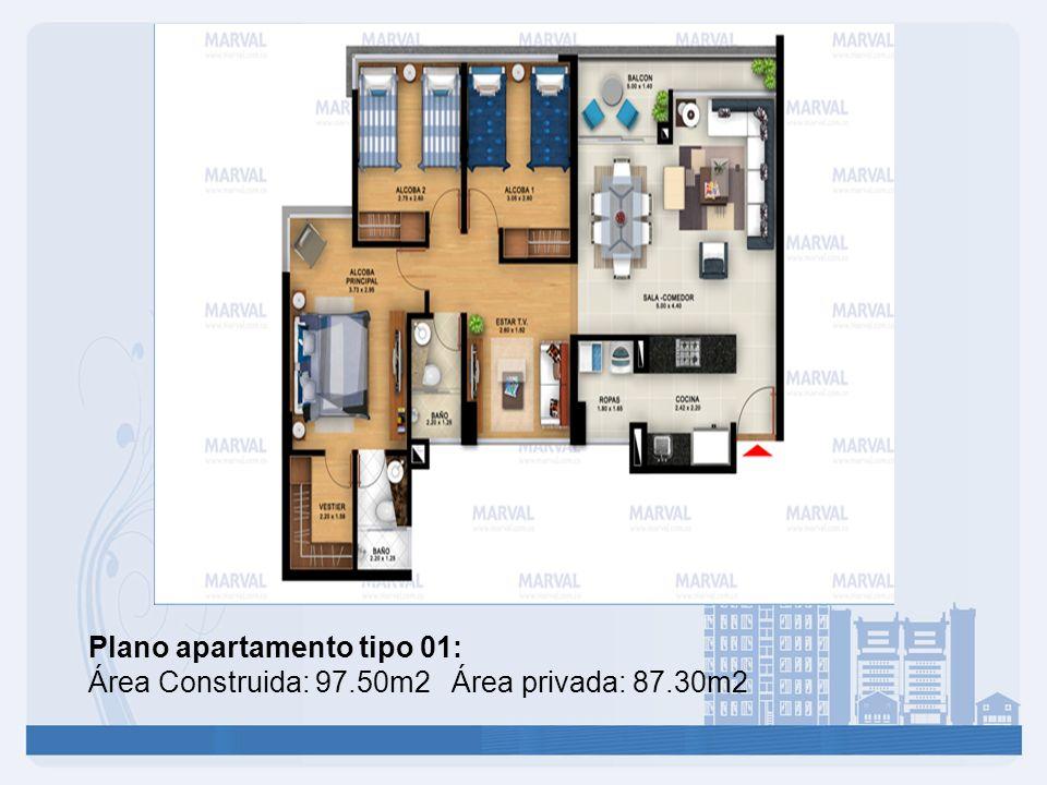 Plano apartamento tipo 01: