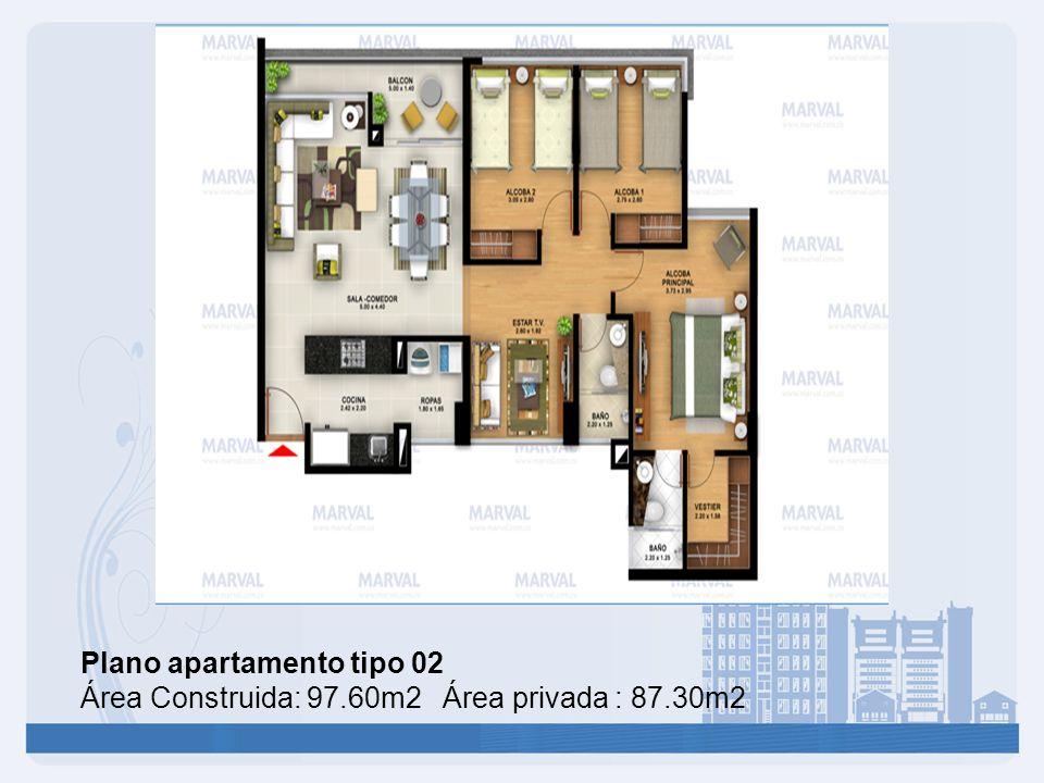 Plano apartamento tipo 02