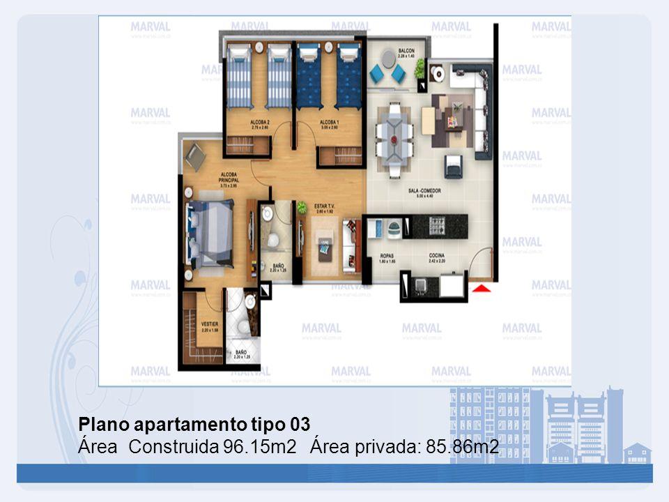 Plano apartamento tipo 03