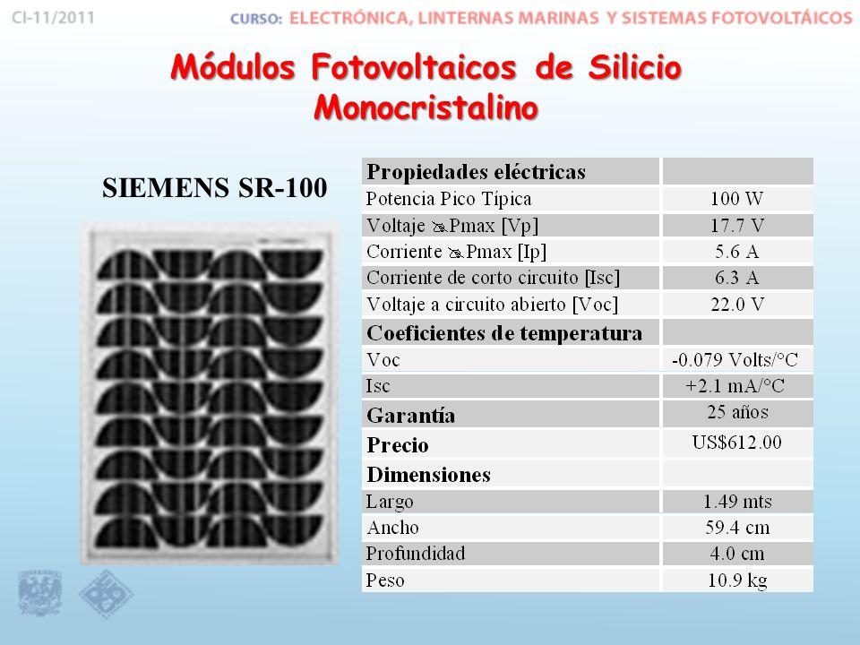 Módulos Fotovoltaicos de Silicio Monocristalino