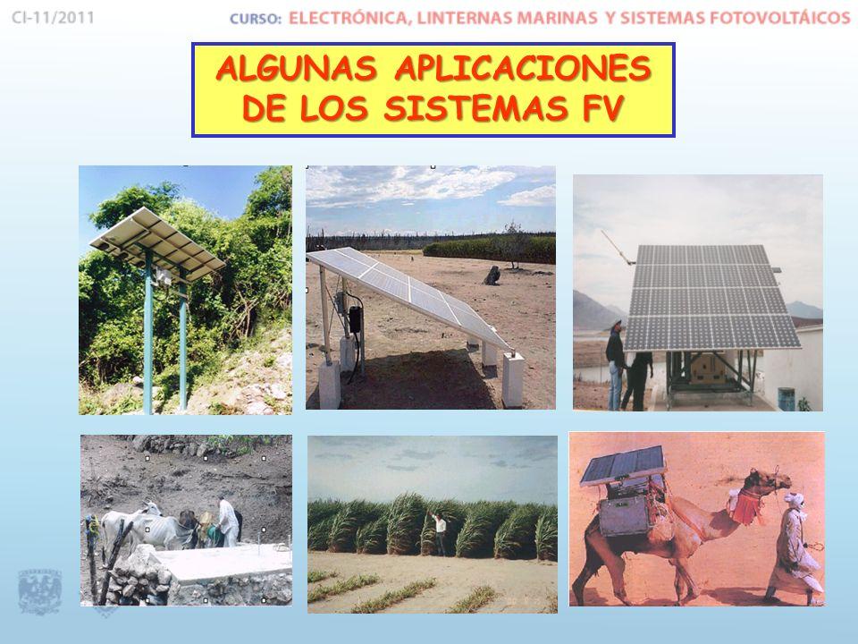 ALGUNAS APLICACIONES DE LOS SISTEMAS FV