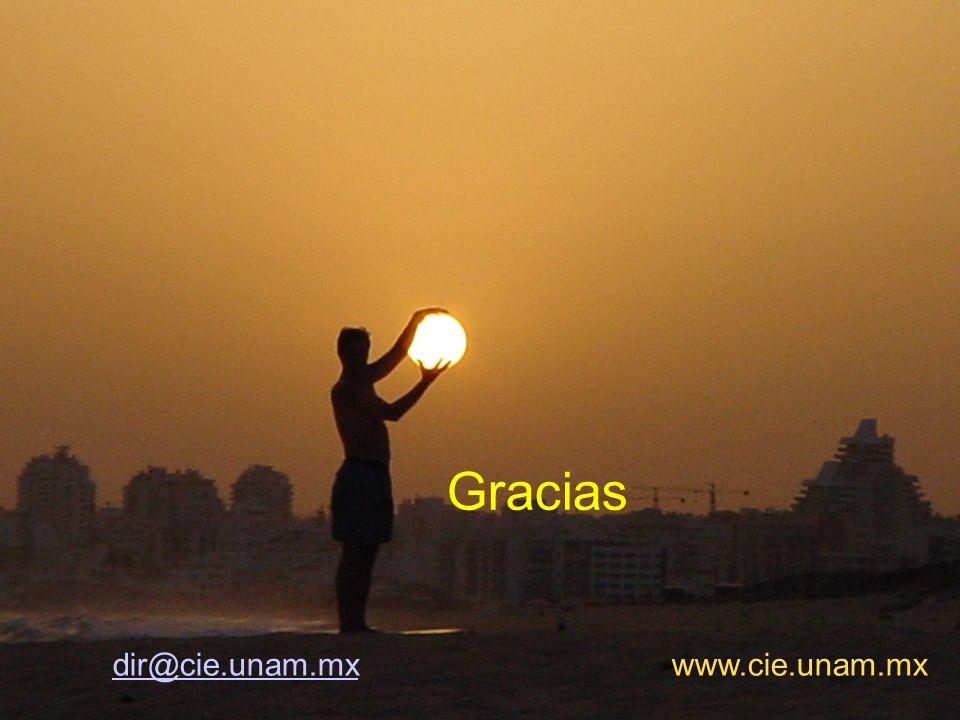 Gracias dir@cie.unam.mx www.cie.unam.mx