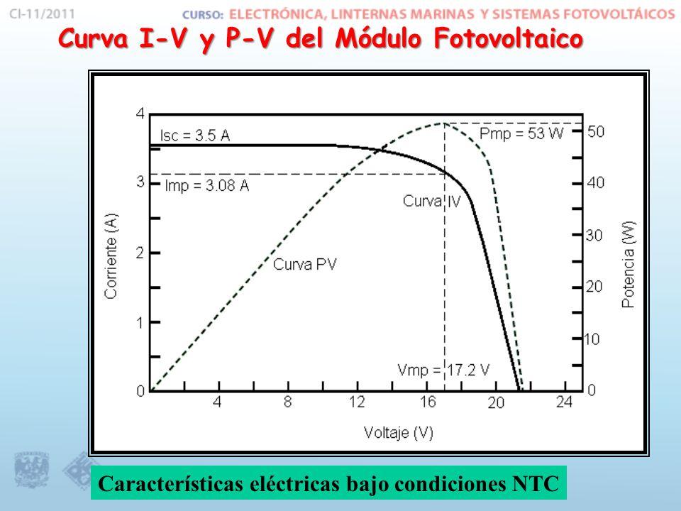 Curva I-V y P-V del Módulo Fotovoltaico
