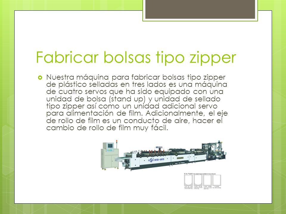 Fabricar bolsas tipo zipper