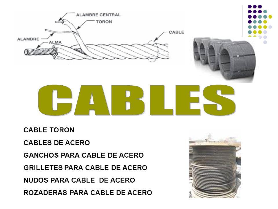 CABLES CABLE TORON CABLES DE ACERO GANCHOS PARA CABLE DE ACERO