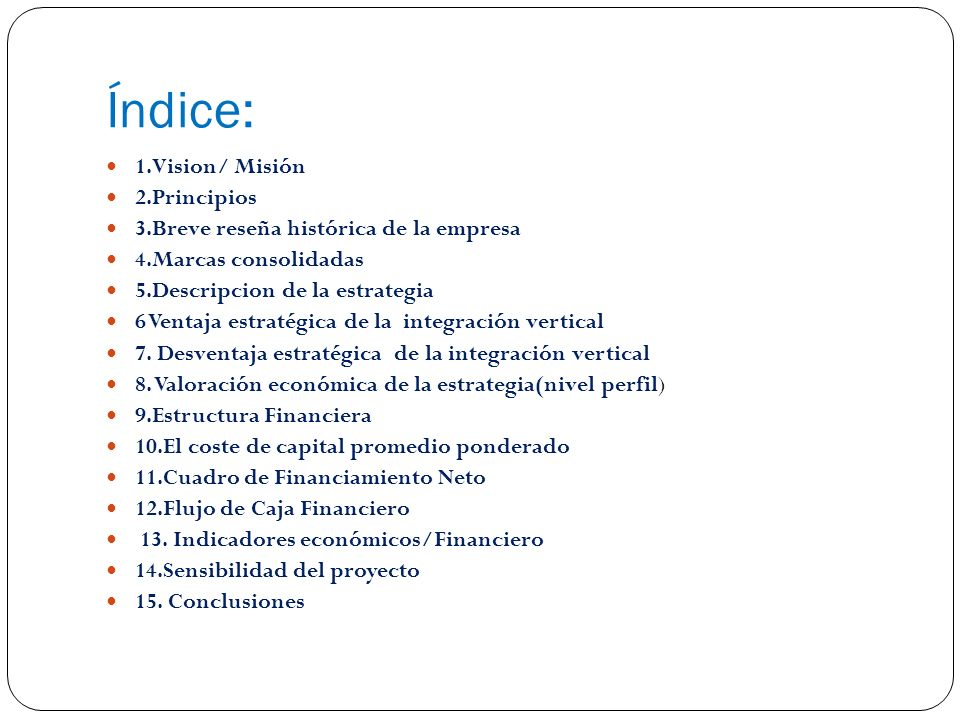 Índice: 1.Vision/ Misión 2.Principios