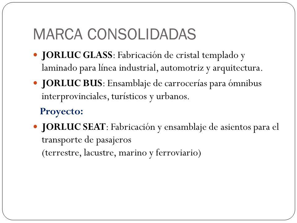 MARCA CONSOLIDADAS JORLUC GLASS: Fabricación de cristal templado y laminado para línea industrial, automotriz y arquitectura.