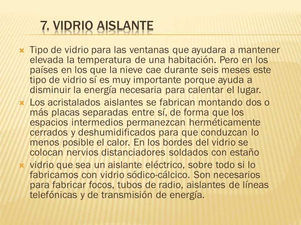 7. VIDRIO AISLANTE