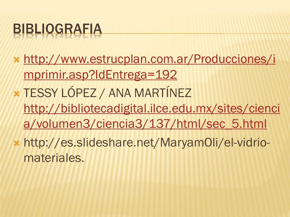 BIBLIOGRAFIA http://www.estrucplan.com.ar/Producciones/imprimir.asp IdEntrega=192.