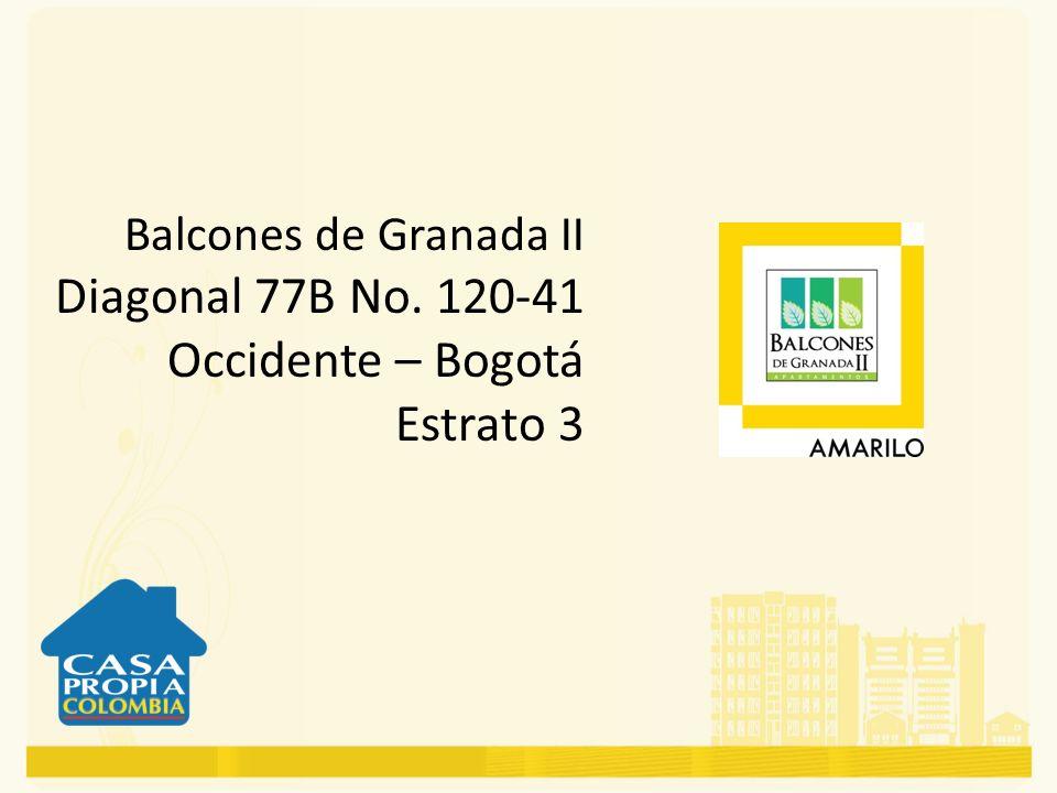 Diagonal 77B No. 120-41 Occidente – Bogotá Estrato 3