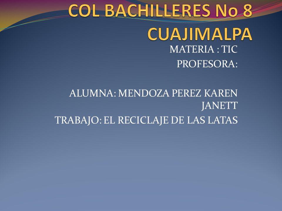 COL BACHILLERES No 8 CUAJIMALPA