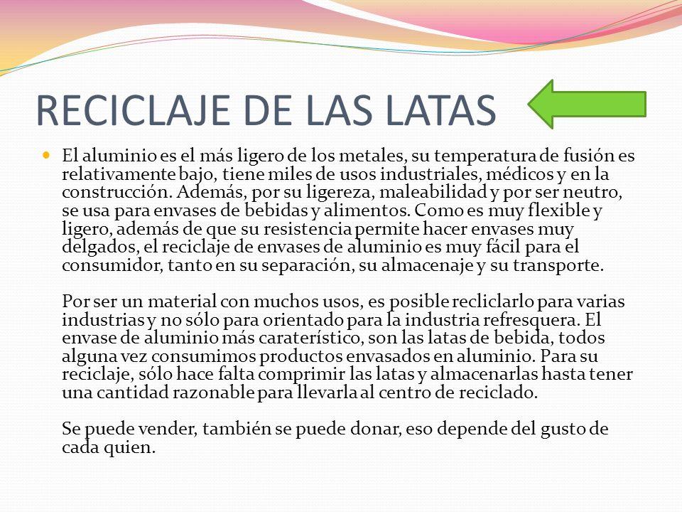 RECICLAJE DE LAS LATAS
