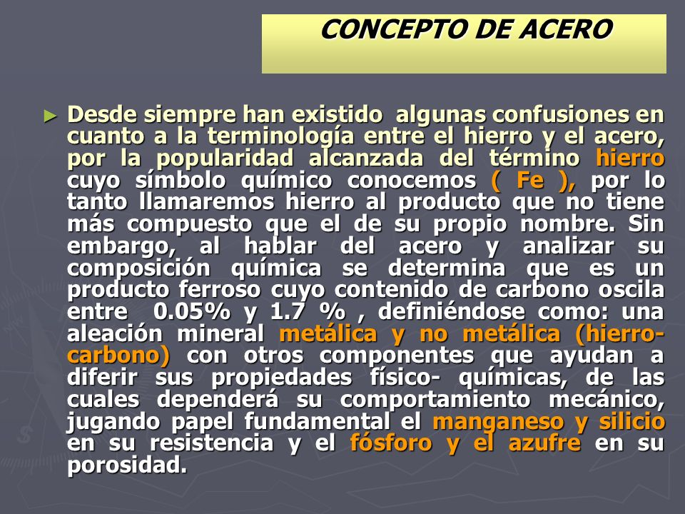 CONCEPTO DE ACERO
