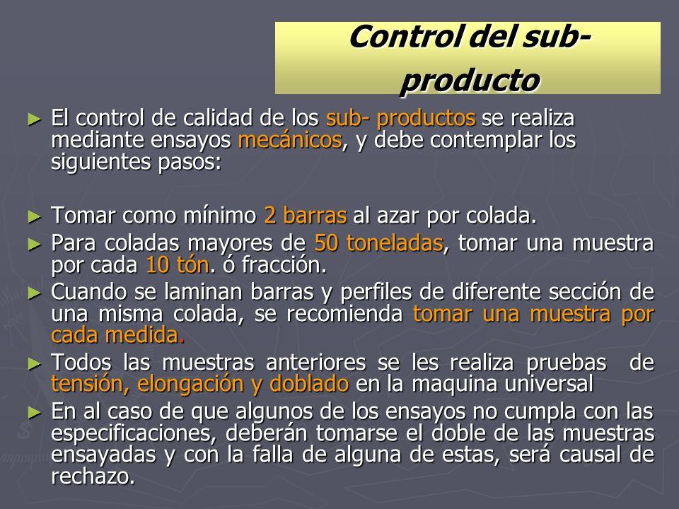 Control del sub- producto
