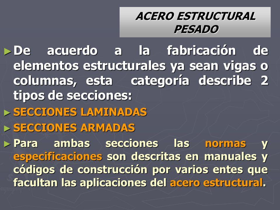 ACERO ESTRUCTURAL PESADO