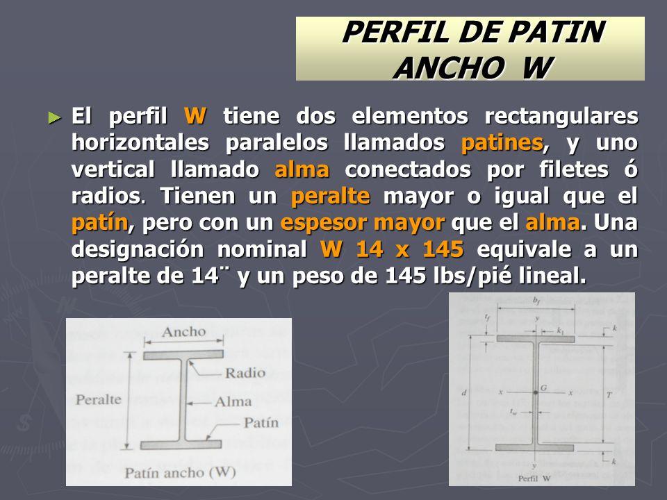 PERFIL DE PATIN ANCHO W