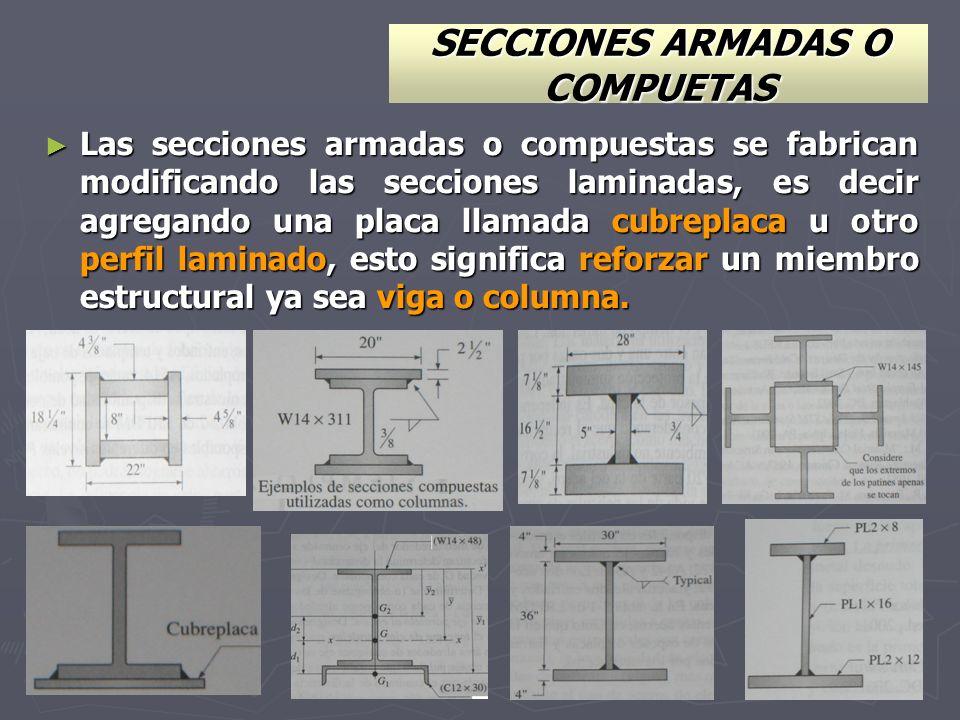 SECCIONES ARMADAS O COMPUETAS
