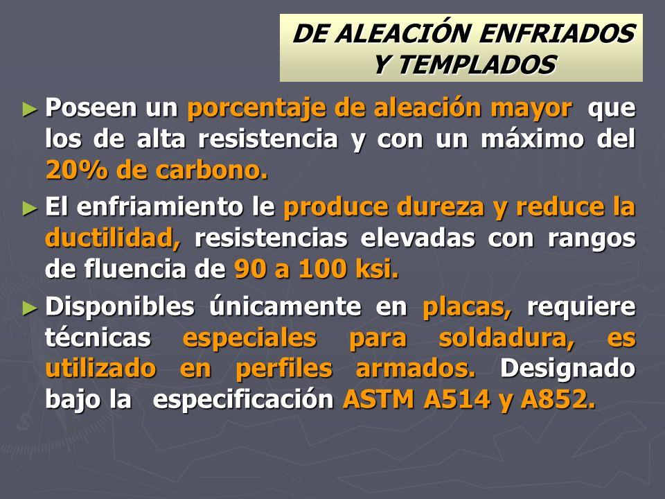 DE ALEACIÓN ENFRIADOS Y TEMPLADOS