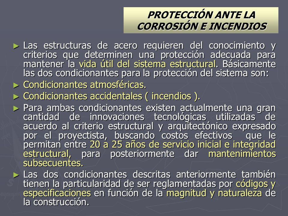 PROTECCIÓN ANTE LA CORROSIÓN E INCENDIOS